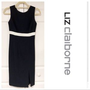 JUST IN❗️LIZ CLAIB0RNE BLACK & WHITE DRESS